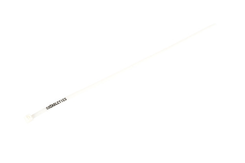 White / Natural Printed Cable Ties (Pack of 100)