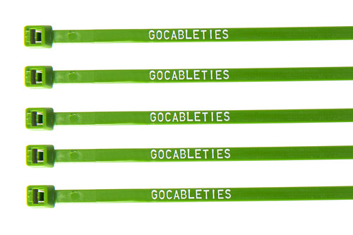 Green Printed Cable Ties (Pack of 100)