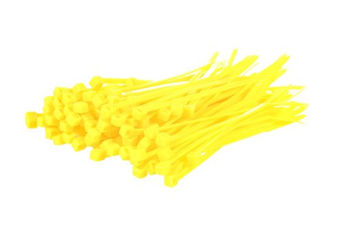 Small Yellow Nylon Cable Ties (Pack of 100)