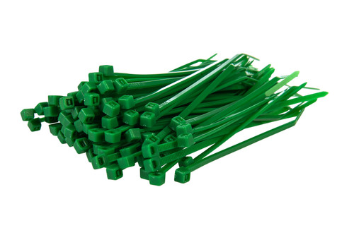 Small Green Nylon Cable Ties (Pack of 100)