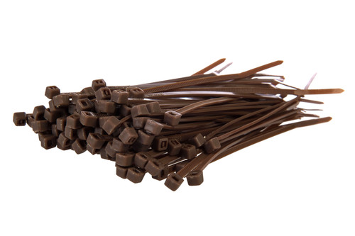 Small Brown Nylon Cable Ties (Pack of 100)