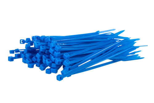 Small Blue Nylon Cable Ties (Pack of 100)