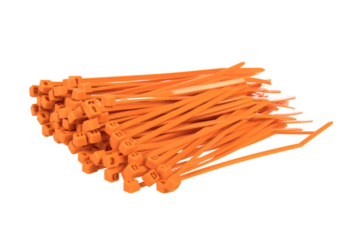 Small Orange Nylon Cable Ties (Pack of 100)