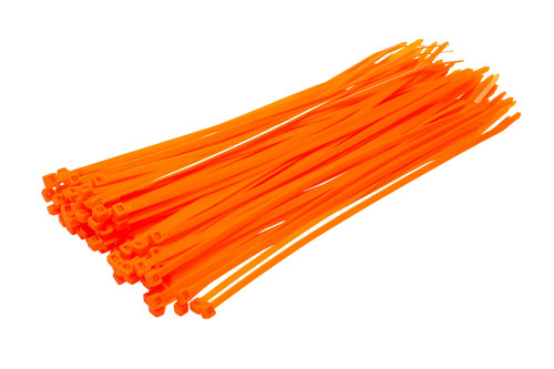 Fluorescent Orange Cable Ties (Pack of 100)