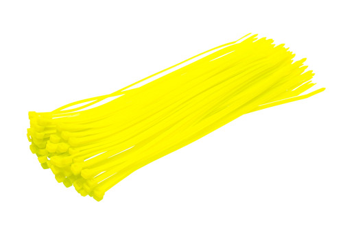 Fluorescent Green Cable Ties (Pack of 100)
