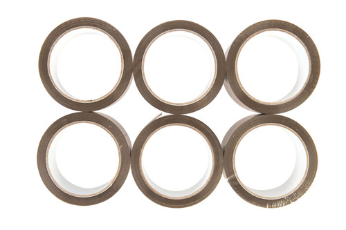 Standard Acrylic Brown Packaging Tape, 48mm x 66m (Pack of 6)