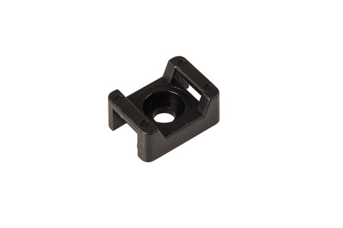 Black Cable Tie Screw Mount Saddle Bases