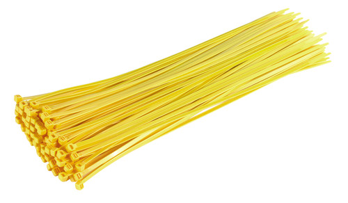 Yellow Heavy Duty Cable Ties (Pack of 100)