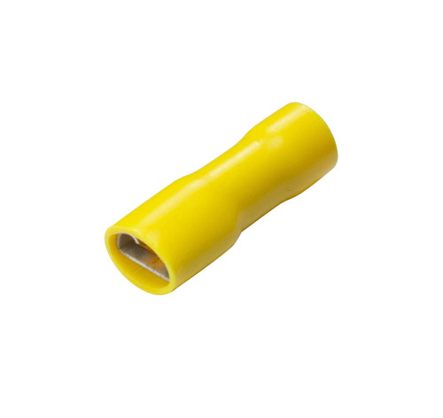 Yellow Fully Insulated Female Spade Disconnect Terminals