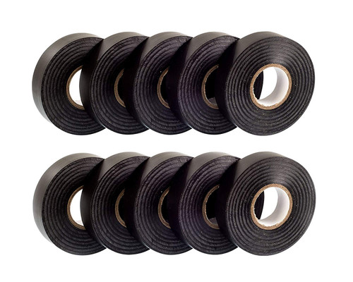 Black PVC Electrical Insulation Tape (Pack of 10)