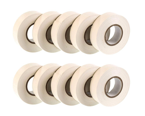 White PVC Electrical Insulation Tape (Pack of 10)