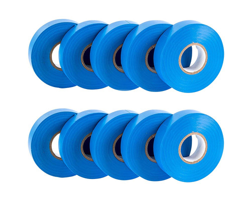 Blue PVC Electrical Insulation Tape (Pack of 10)