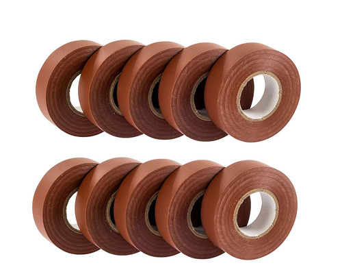 Brown PVC Electrical Insulation Tape (Pack of 10)