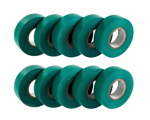 Green PVC Electrical Insulation Tape (Pack of 10)