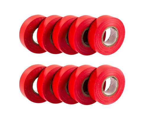 Red PVC Electrical Insulation Tape (Pack of 10)