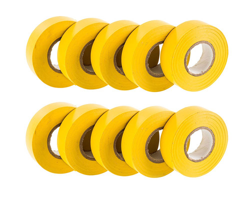 Yellow PVC Electrical Insulation Tape (Pack of 10)
