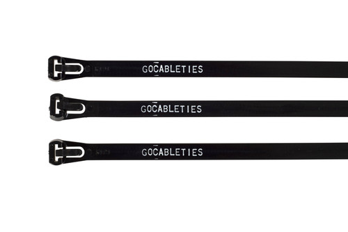 Printed Black Trigger Releasable Cable Ties (Pack of 100)