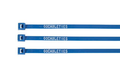 Blue Printed Cable Ties (Pack of 100)
