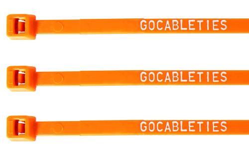 Orange Printed Cable Ties (Pack of 100)
