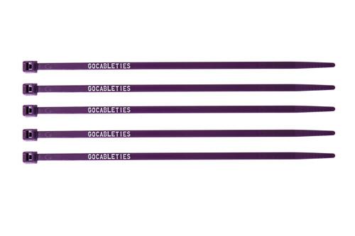 Purple Printed Cable Ties (Pack of 100)