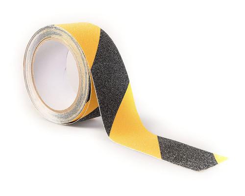 Black/Yellow Anti-Slip Adhesive & Abrasive Hazard Marking Tape, 50mm x 5m