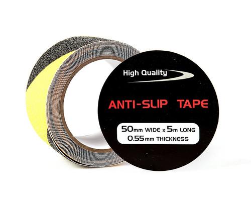 Black/Yellow Anti-Slip Adhesive & Abrasive Hazard Marking Tape