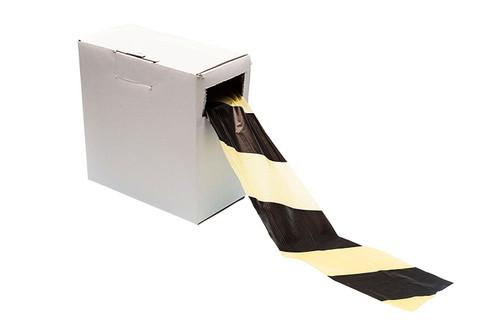 Black / Yellow Warning Barrier Tape - Non Adhesive