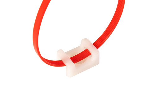 White Cable Tie Screw Mount Saddle Bases