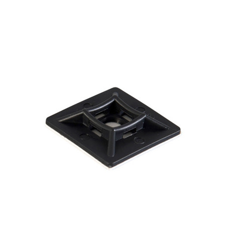 Black Self Adhesive Cable Tie Bases