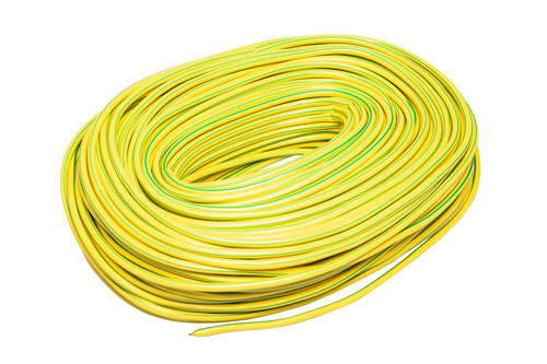 Green / Yellow Flexible PVC Cable Sleeving