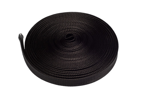 Black PET Braided Expandable Cable Sleeving