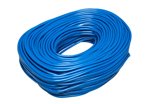 Blue Flexible PVC Cable Sleeving