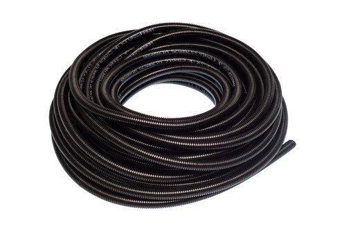 Black Flexible Non-Split Conduit Tubing' 25m Reel