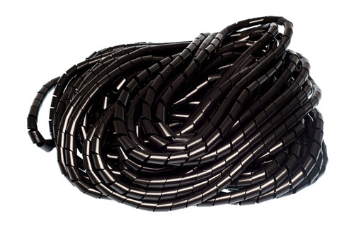 Black Cable Spiral Wrap, 25m Reel