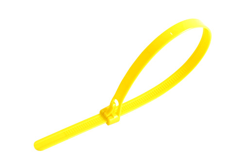 Yellow Releasable Trigger Cable Ties (Pack of 100)