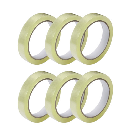 Clear Polypropylene Stationery Cellotape, 24mm x 66m, 6 Roll Pack