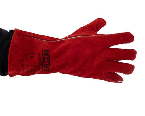 Red Welding Gauntlet