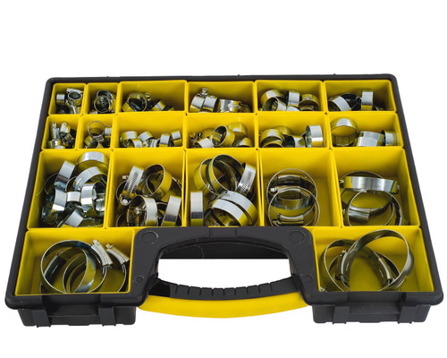 Large Box of Assorted Hose Clips