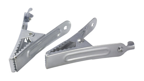 Pack of 25 Crocodile Clips - 50 Amp Non-Insulated - 95mm Clip - Mild Steel with Zinc Plating