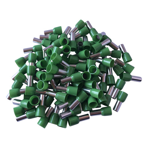 Green Cord End Single Wire Terminals