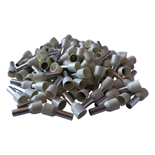 Ivory Cord End Single Wire Terminals