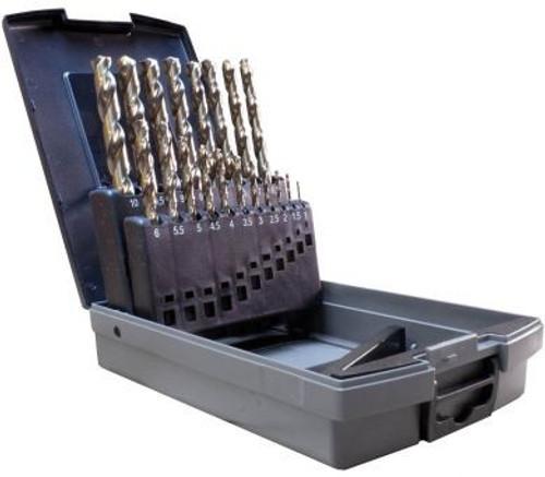 19 Piece Jobber Drill Bit Set, Cobalt (1.0mm - 10mm)