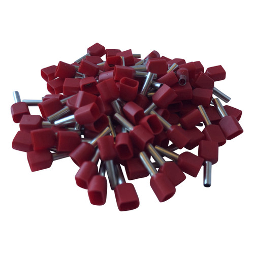 Red Cord End Twin Wire Terminals