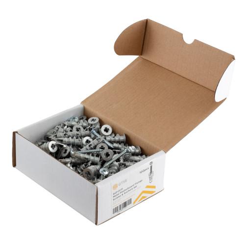 100 Pack Self-Drill Metal Plasterboard Fixings and Screws