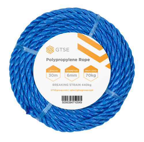 Blue Poly Rope - 6mm x 30m