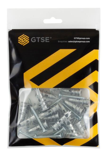 25 Pack Self-Drill Metal Plasterboard Fixings and Screws