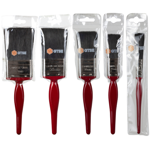 Premium Paint Brush Set (5 Pieces) in a GTSE branded packaging