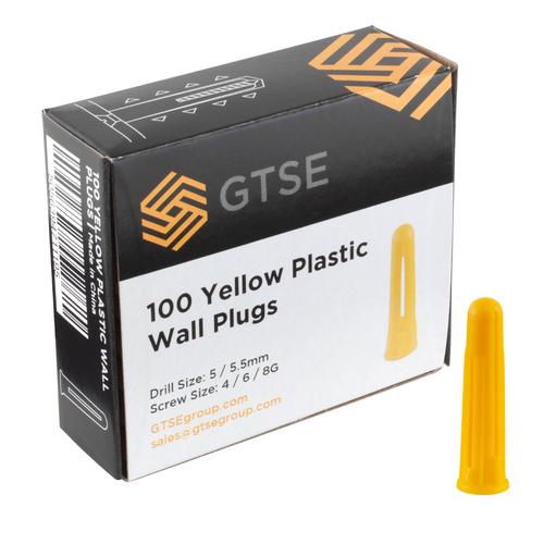 Yellow Plastic Masonry Wall Plugs