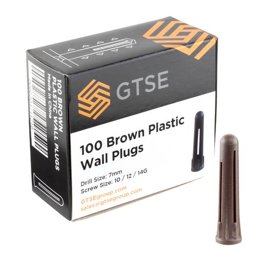 Brown Plastic Masonry Wall Plugs