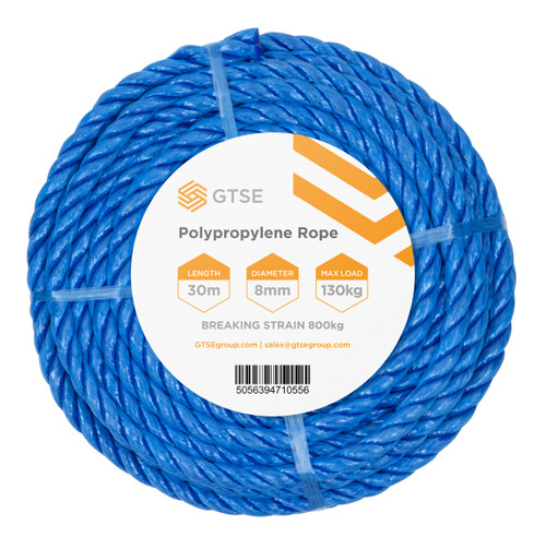 Blue Poly Rope - 8mm x 30m